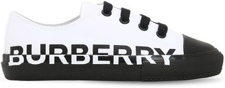 Burberry LOGO PRINT COTTON CANVAS SNEAKERS