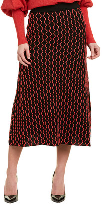 Morgan Knitss Wool Maxi Skirt