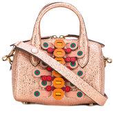 Anya Hindmarch Vere mini barrel flip bag - women - Leather - One Size