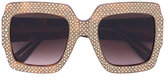 Gucci oversized square frame rhinestone sunglasses - women - Acetate - One Size