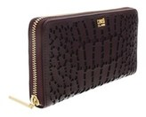 Roberto Cavalli Crocodilia 192 Burgundy Long Wallet.