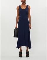 Stella McCartney Vestiaire Collective scoop-neck stretch-crepe midi dress