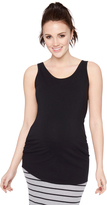 Motherhood Bumpstart Scoop Neck Maternity Tank Top (2 Pack)- Animal