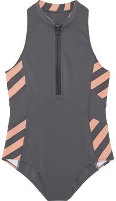 Chiemsee Women's Zip Up High Neck Patterned Swimsuit Womens High Neck Gemustert mit Reiverschluss