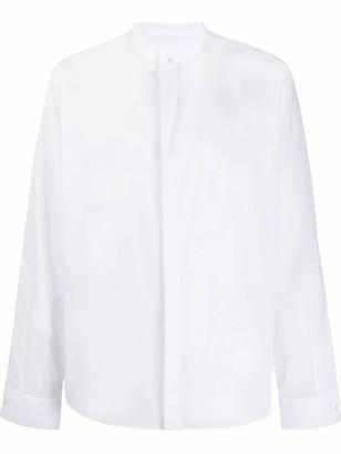 Les Hommes Mandarin-Collar Shirt