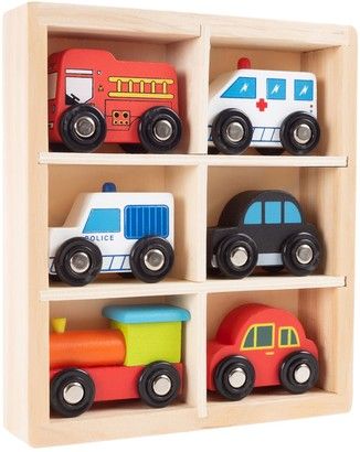 Hey Play Hey! Play! 6-Piece Mini Wooden Cars Play Set