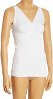 White Firm Compression V-Neck Shaping Camisole - Plus Too