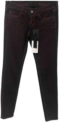 Barbara Bui Burgundy Cotton - elasthane Jeans for Women