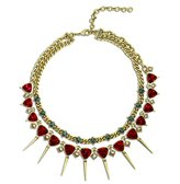 Nicole Miller Double Row Spike Chain Necklace