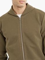 S.n.s. Herning Olive Woven Cotton Sweatshirt