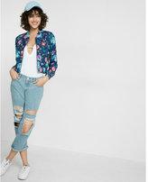 Express Floral Print Bomber Jacket