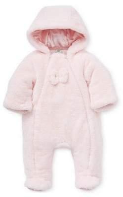 Little Me Baby Girl's Hooded Faux Fur Pram