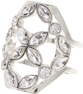 Louise et Cie Crystal Cluster Cocktail Ring - Size 7