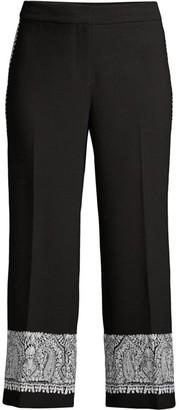 Kobi Halperin Zeina Embroidery Cropped Trousers