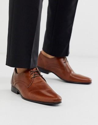 Burton Menswear leather derby shoe in tan