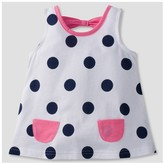 Gerber Graduates® Toddler Girls' Polka Dot Pocket Tunic - White
