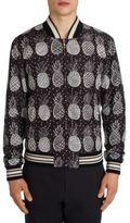 Dolce & Gabbana Pineapple Printed Bomber Jacket