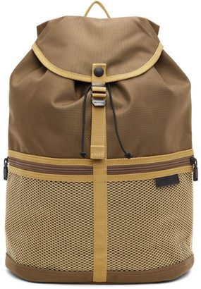 Master-piece Co Brown and Tan Swish Backpack