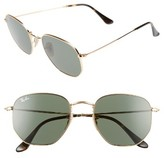 Ray-Ban Women's 54Mm Aviator Sunglasses - Gold/ Green