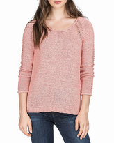 Lilla P Tape Yarn Open-Stitch Sweater, Adobe