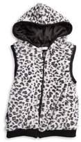 Pinc Premium Girl's Faux Leopard-Fur Vest