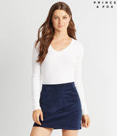 Aeropostale Womens Prince & Fox Box Pleat Corduroy Skirt