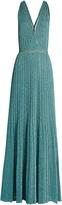 Missoni Twist-back halterneck knitted maxi dress