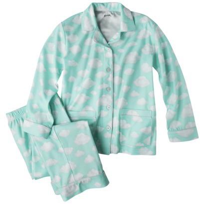 Nick & Nora Girls' 2-Piece Button Down Coat Pajama Set