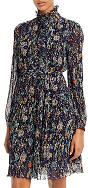 Tory Burch Deneuve Pleated Ruffled Dress