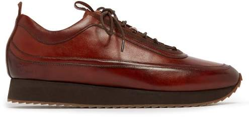 Grenson Sneaker 12 Leather Trainers - Mens - Brown