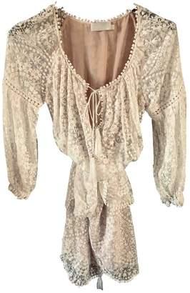 Zimmermann Beige Lace Dress for Women