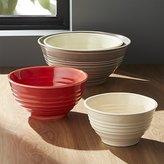 Crate & Barrel Ravenna Nesting Ceramic Bowls Set of 4
