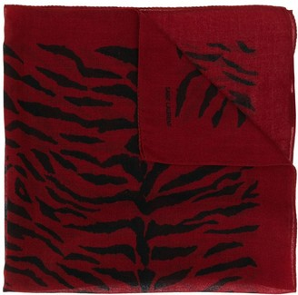 Saint Laurent tiger print bandana