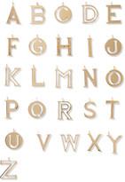 Chloé Alphabet Gold-plated Bag Charm - F