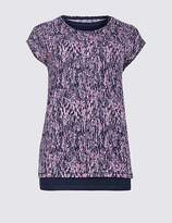 Marks and Spencer Elemental Double Layer Burnout Tee