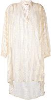 Mes Demoiselles metallic striped elongated shirt - women - Cotton/Lurex - 1
