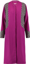 Matthew Williamson Intarsia-paneled wool coat