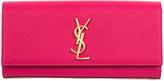 Saint Laurent Pink Kate Textured Leather Clutch