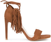 Stuart Weitzman fringed trim sandals - women - Leather/Suede - 36