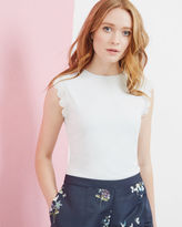 Ted Baker Scallop trim fitted top