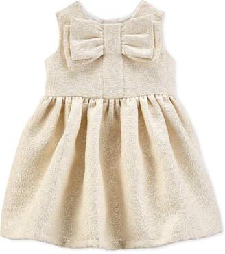 Carter's Carter Baby Girls Metallic Bow Dress