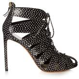 Francesco Russo Cutaway snakeskin ankle boots