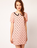Dahlia Heart Cutwork Shift Dress