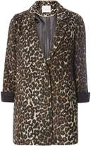 Petite Brown Animal Coat
