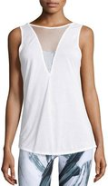 Alo Yoga Warm-Up Mesh-Inset Sport Tank Top