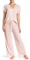 Natori Zen Floral Short Sleeve Pajama Set