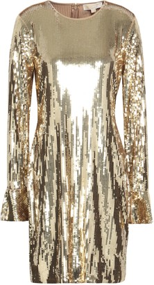 MICHAEL Michael Kors Sequined Stretch-jersey Mini Dress