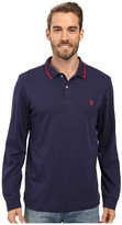 U.S. Polo Assn. Long Sleeve Cotton Interlock Polo Shirt