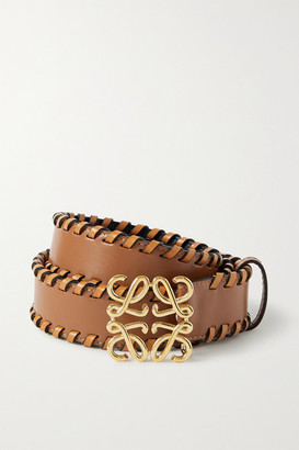Loewe Whipstitched Leather Belt - Tan