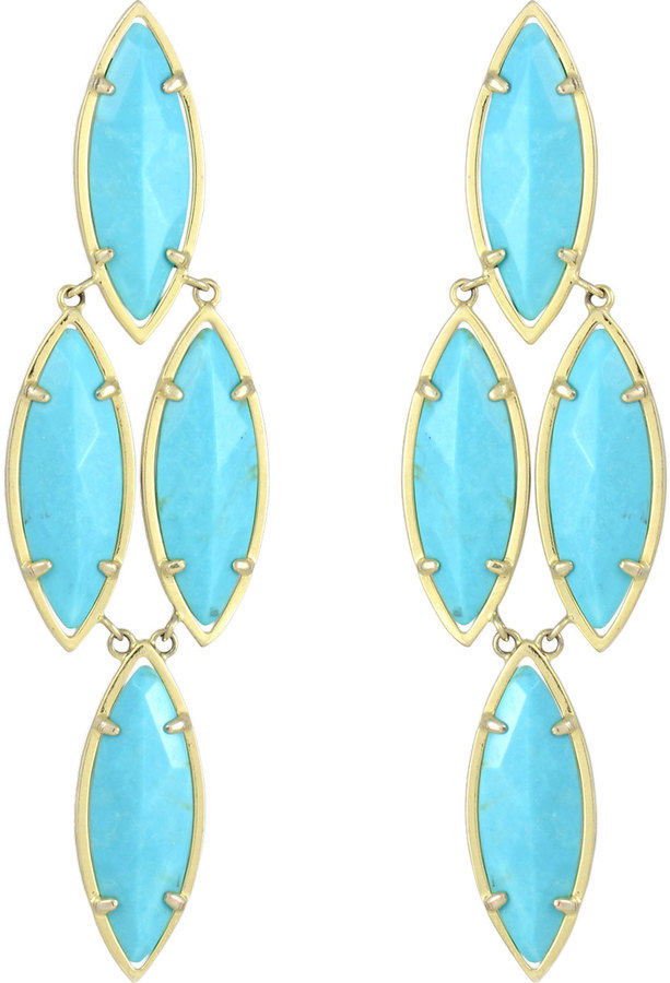 Kendra Scott Arminta Drop Earrings, Turquoise
